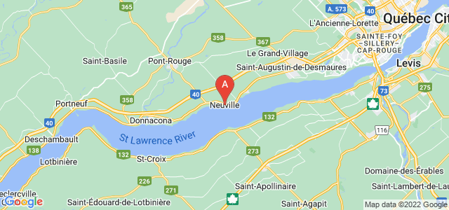 map of Neuville, Canada