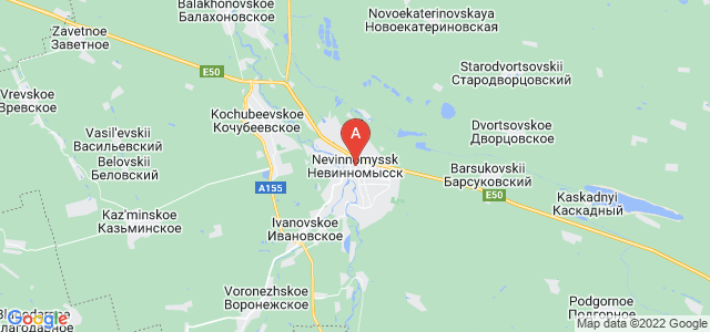 map of Nevinnomyssk, Russia