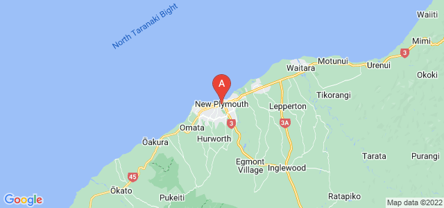 map of New Plymouth, New Zealand