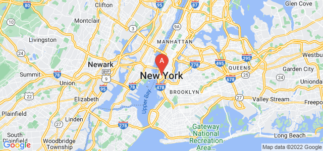 map of New York, United States of America