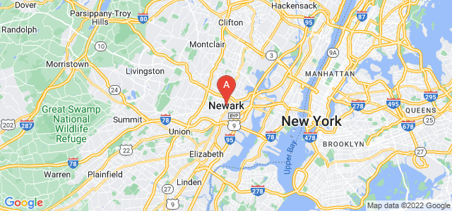 map of Newark, United States of America