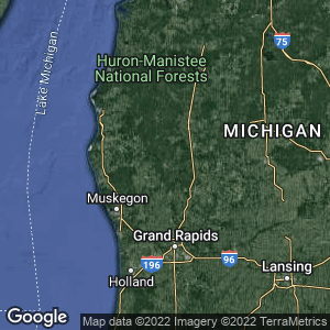 Static Map of Newaygo County, Michigan