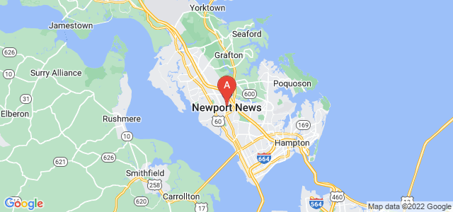 map of Newport News, United States of America