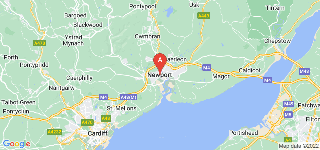 map of Newport, United Kingdom