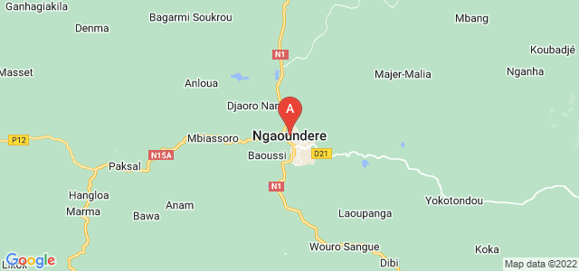 map of Ngaoundéré, Cameroon