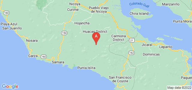 map of Nicoya, Costa Rica