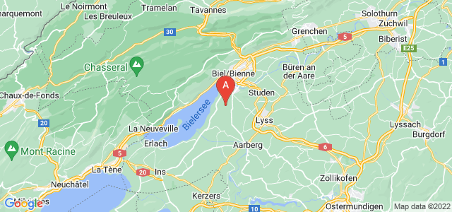 map of Nidau, Switzerland