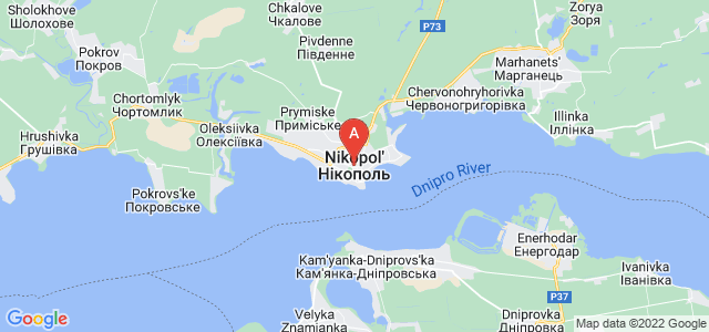 map of Nikopol, Ukraine