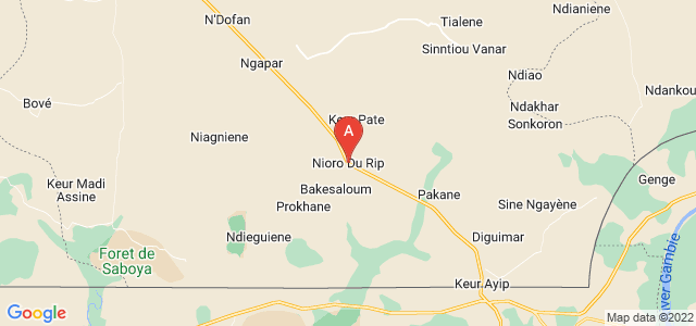 map of Nioro du Rip, Senegal