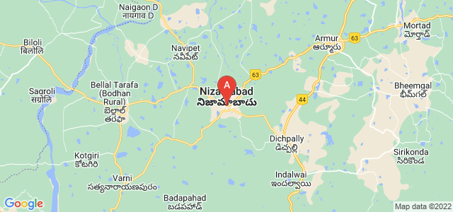 map of Nizamabad, India