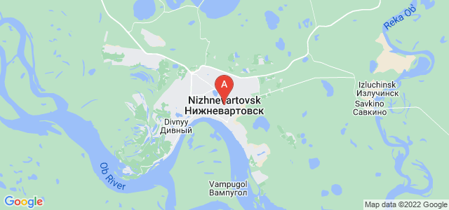 map of Nizhnevartovsk, Russia
