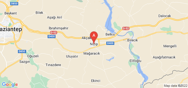 map of Nizip, Turkey