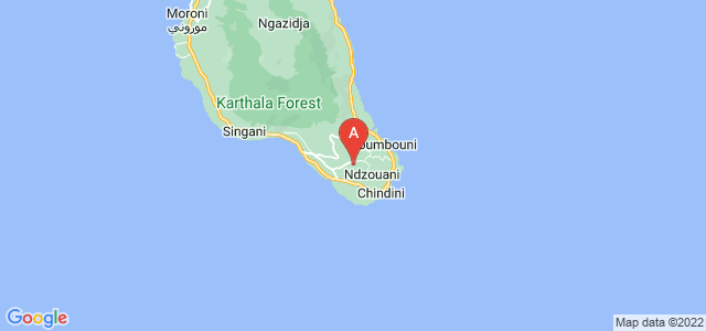 map of Nkourani, Comoros