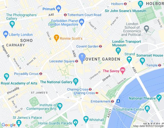 Location map for Noël Coward Theatre