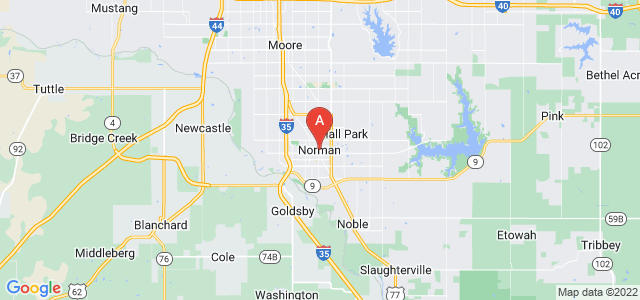 map of Norman, United States of America