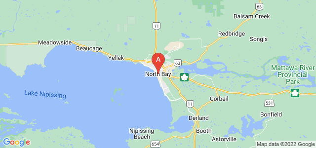map of North Bay, Canada