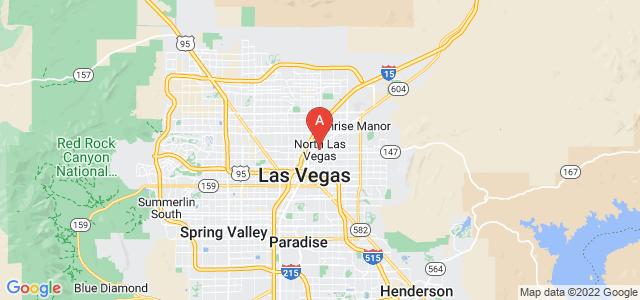 map of North Las Vegas, United States of America