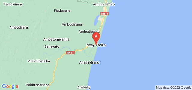 map of Nosy Varika, Madagascar