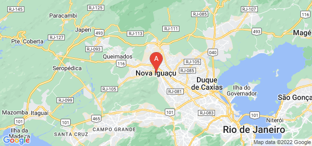 map of Nova Iguaçu, Brazil