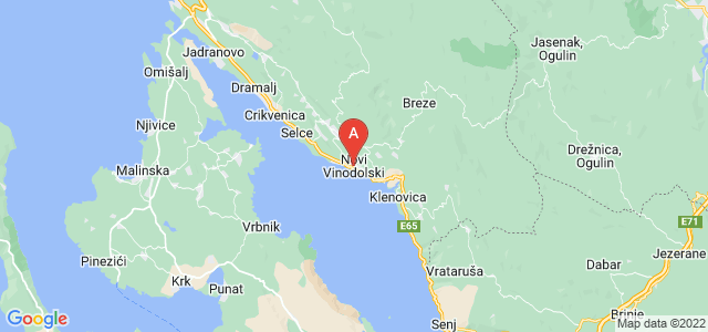 map of Novi Vinodolski, Croatia