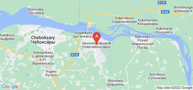 map of Novocheboksarsk, Russia