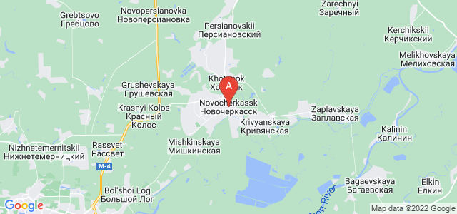 map of Novocherkassk, Russia