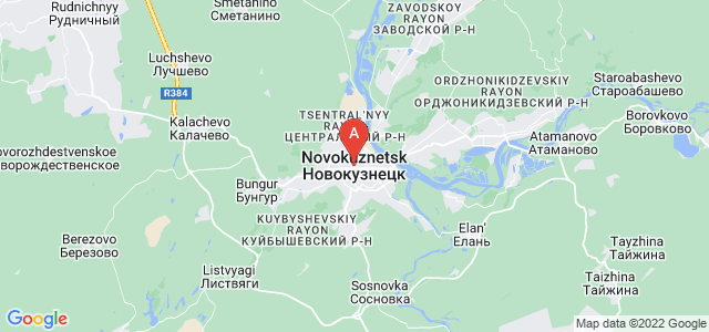 map of Novokuznetsk, Russia