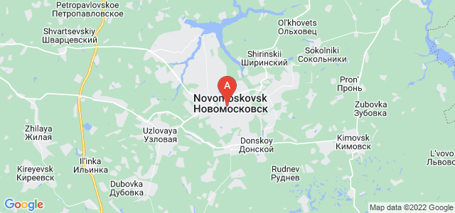 map of Novomoskovsk, Russia