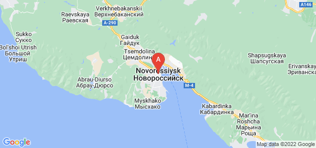 map of Novorossiysk, Russia