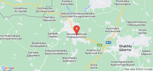 map of Novoshakhtinsk, Russia