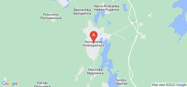 map of Novouralsk, Russia