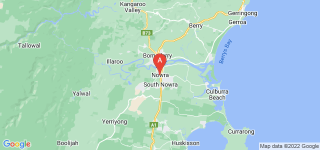 map of Nowra, Australia