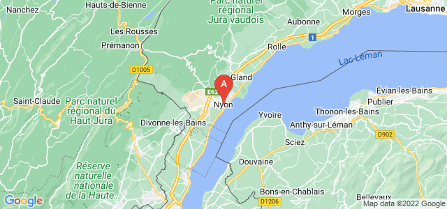 map of Nyon, Switzerland