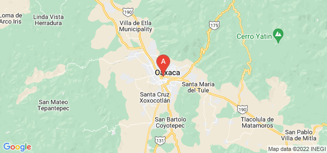 map of Oaxaca, Mexico