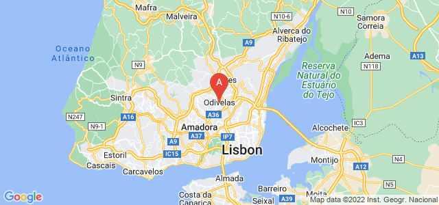 map of Odivelas, Portugal