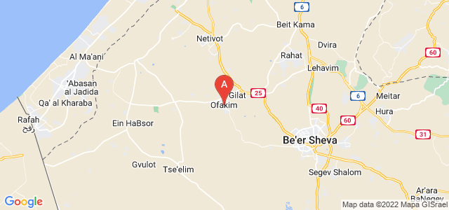 map of Ofakim, Israel
