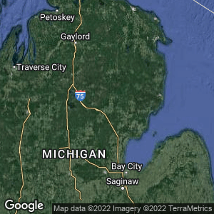 Static Map of Ogemaw County, Michigan