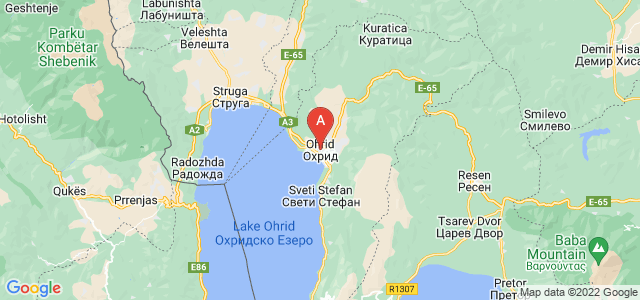map of Ohrid, Republic of Macedonia