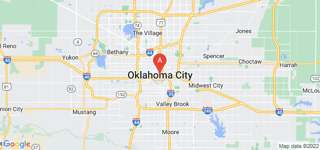 map of Oklahoma City, United States of America