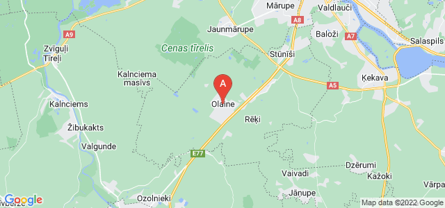 map of Olaine, Latvia
