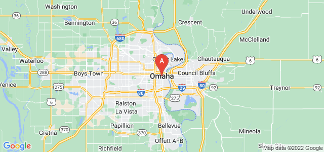 map of Omaha, United States of America