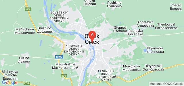map of Omsk, Russia