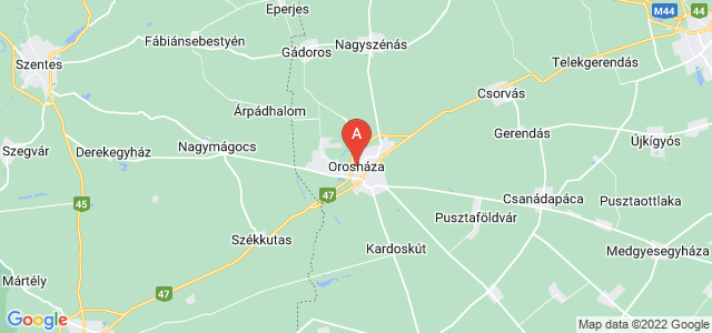 map of Orosháza, Hungary