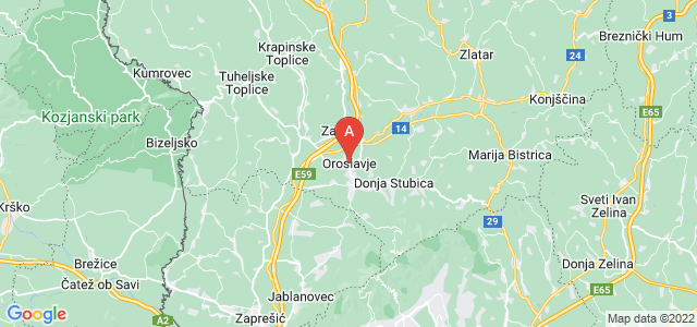 map of Oroslavje, Croatia