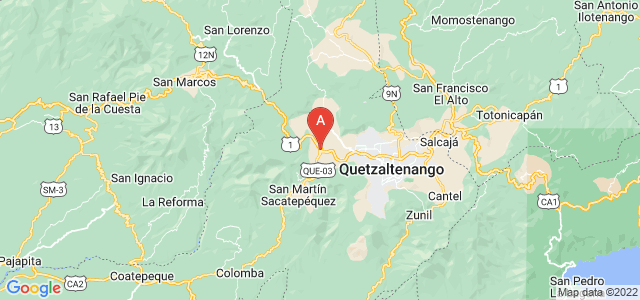 map of Ostuncalco, Guatemala