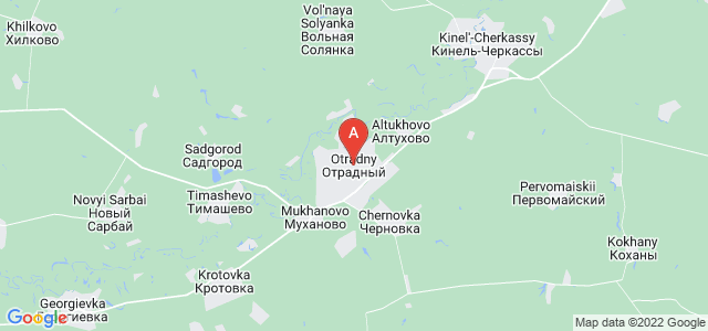 map of Otradny, Russia