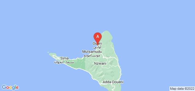 map of Ouani, Comoros