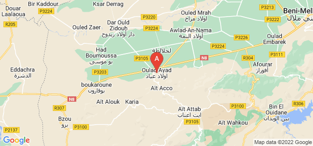 map of Oulad Ayad, Morocco