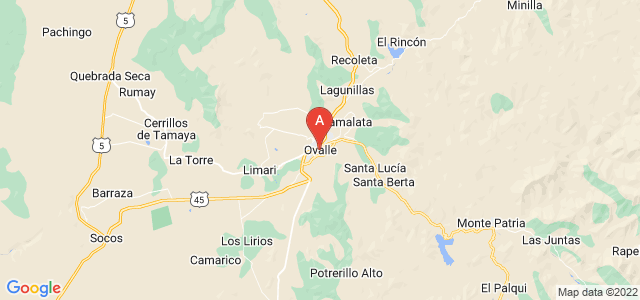 map of Ovalle, Chile