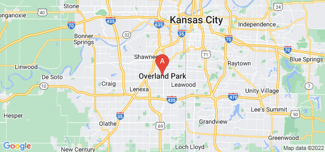 map of Overland Park, United States of America